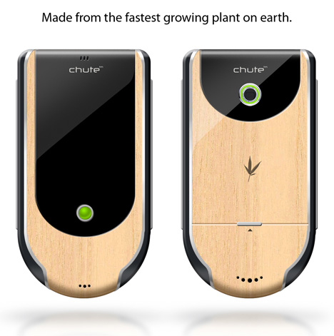 Chute Concept Phone, Made Out of Bamboo