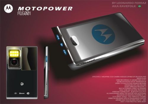 Motorola MOTOPOWER A1600i, 40GB Multimedia Concept Phone With a 5.1 MP Camera