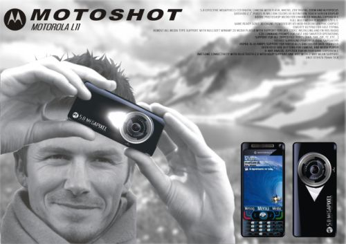 Motorola MOTOSHOT L11 Linux Phone... Held by David Beckham?!