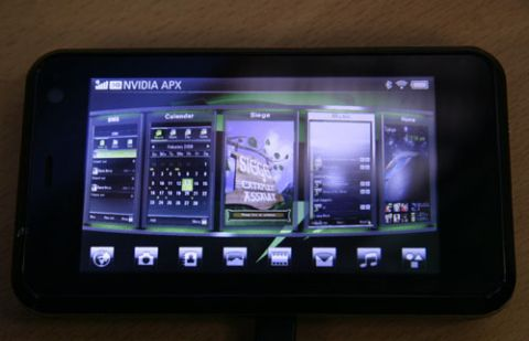 PlayStation Power on an iPhone like Device, branded Nvidia