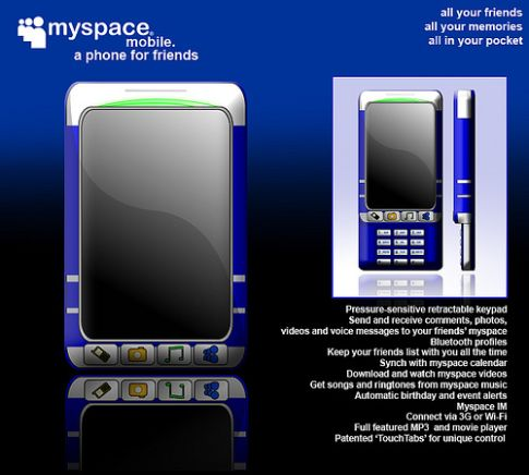 MySpace Phone, Social Networking Gone 3G and Portable