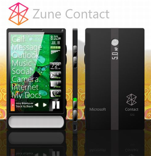 Zune Phone Concept, Designed by Adam Huffman