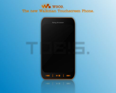 Sony Ericsson W909, Walkman Touchscreen Phone Designed by Tob!s