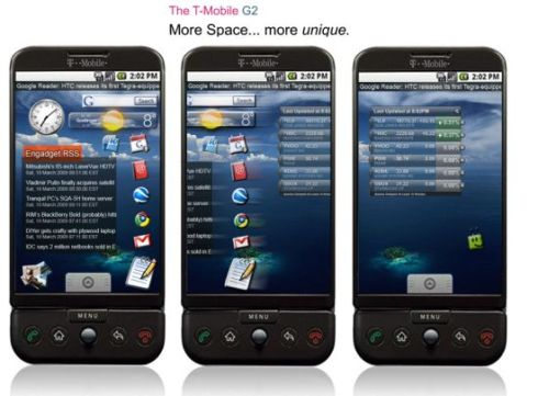 T-Mobile G2 android multi-touch input method phone