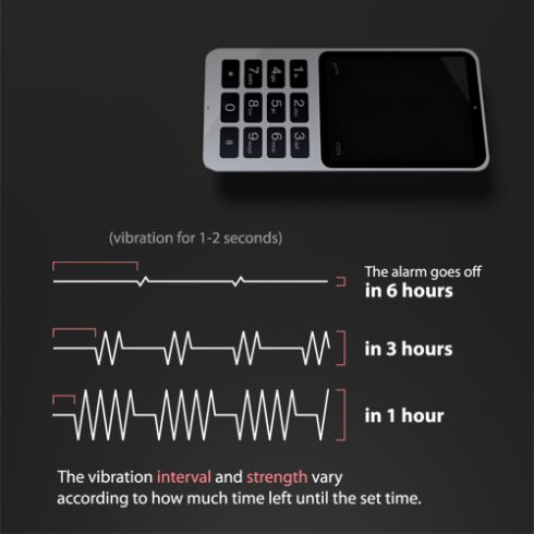 Vibration Alarm Clock Mobile Phone Is the Perfect Way To Wake Up