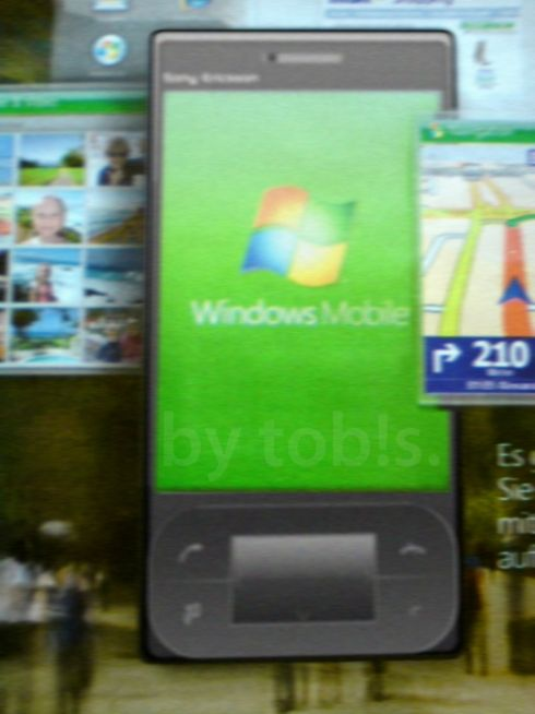 A New Blurry Sony Ericsson Windows Mobile Phone Image to Speculate On...
