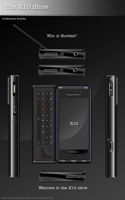 Sony Ericsson XPERIA X10 Eureka, Power and Elegance in a Conceptual Package