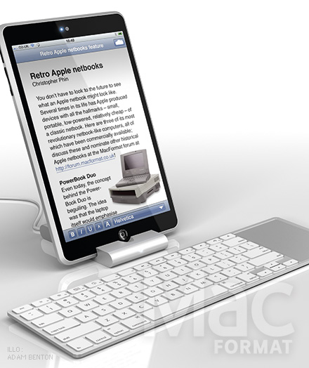 Apple Netbook Concept Created by Adam Benton, Adds a Lot of iPhone In the Mix
