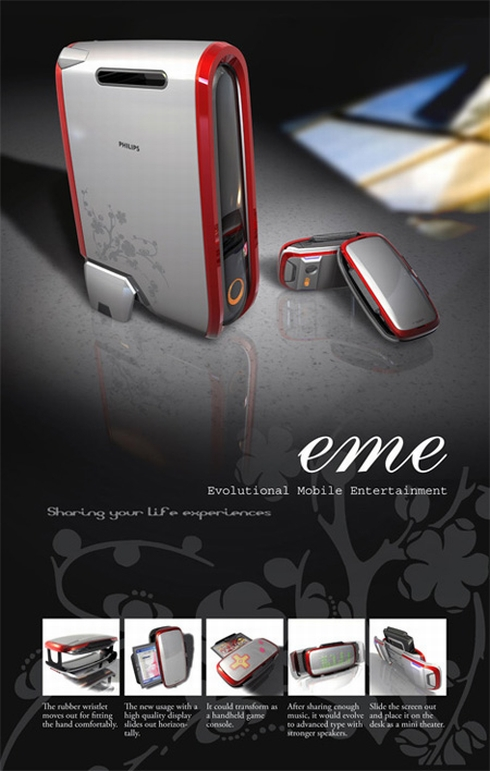 EME Mobile Device, a Portable Console, Music and Video Player Concept