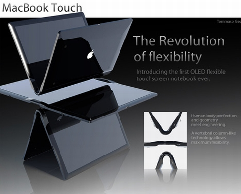 MacBook Touch Design Relies on iSpine Technology, Flexible OLED