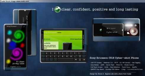 Sony Ericsson C918 Cyber-Shot Concept Phone Comes With a Sliding QWERTY Keypad