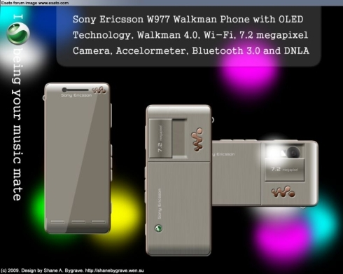 Sony Ericsson W977, New Design by Shane A. Bygrave