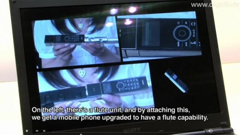 NTT DoCoMo Prototype Phone Is a Flute, Blood Testing Device