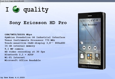 Sony Ericsson HD Pro Is All About Productivity