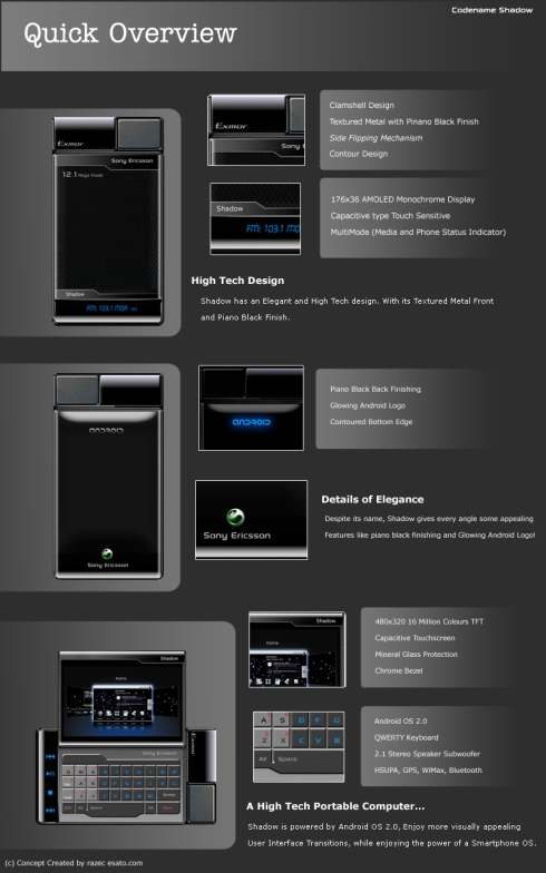 Sony Ericsson Shadow, the Ultimate Device for Ultimate Geeks