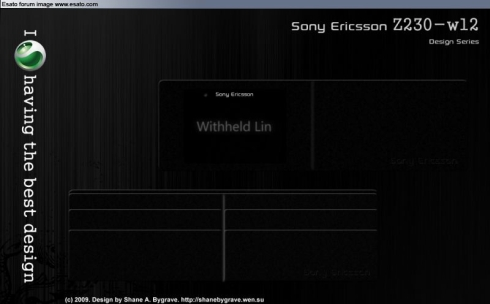 Sony Ericsson Nene and Wallet Designs by Shane A. Bygrave