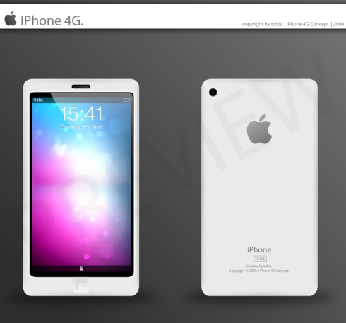 iPhone 4G Concept by tob!s, Neat and Simplistic Design