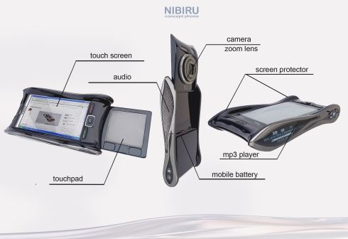 Nibiru Concept Phone, an Andy Kurovets Design Blending Sci Fi and Mythology