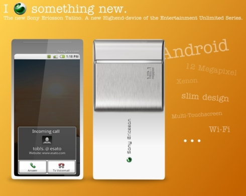 Sony Ericsson Tatino, High End Android Phone Gets 12 Megapixel Camera