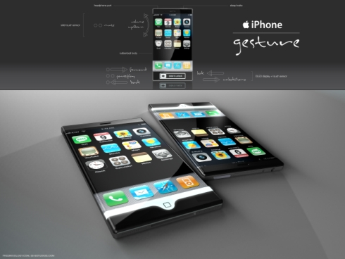 iPhone Gesture Concept Adds Two More Touch Sensitive Areas