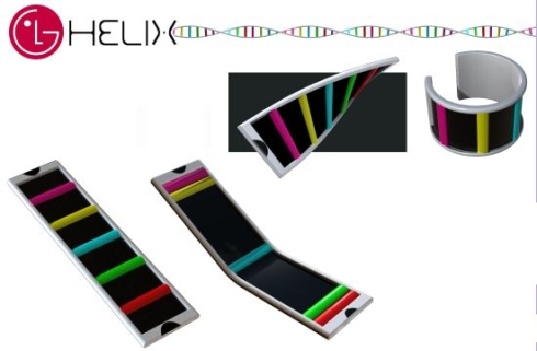 LG Helix Cellphone is Also a Slap Bracelet