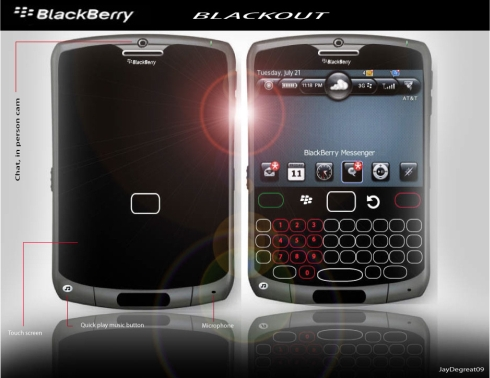 BlackBerry Blackout Concept Comes With a Virtual Keyboard, 8MP Camera