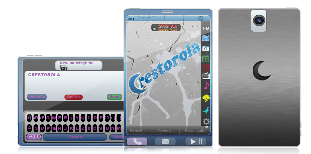 Crestarola Phone Concept, Combo Between an Android Handset and a Palm OS Device