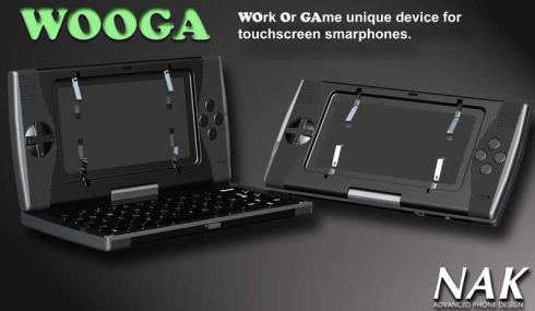 WOOGA Concept Gaming Device Integrates Your Regular Smartphone