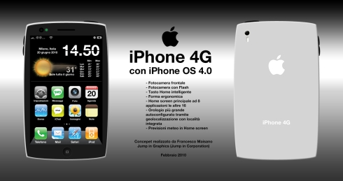 iPhone 4G Concept Shows a Glimpse of iPhone OS 4.0