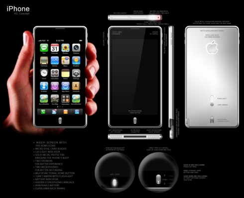 iPhone 4G Concept Uses a 12MP Camera, Wider Screen