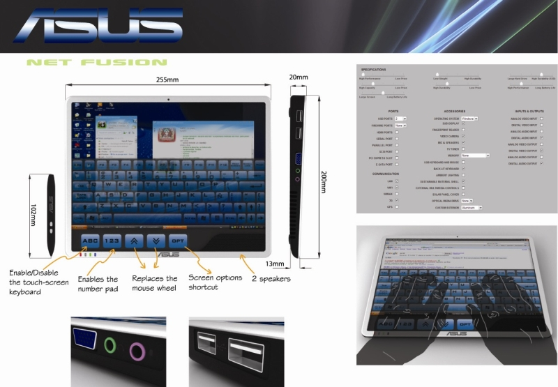Asus Net Fusion, the Graphic Design Tablet to Beat the iPad?