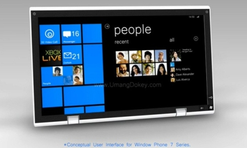 Windows Phone 7 Tablet is Promising, a Mere Design for Now