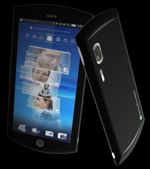 Sony Ericsson Shio, Fresh Android Phone Design