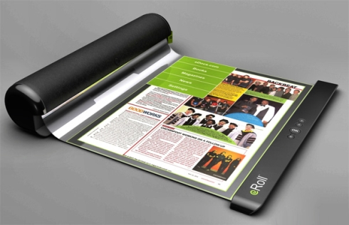 eRoll Flexible, Rollable E reader Shows the Future