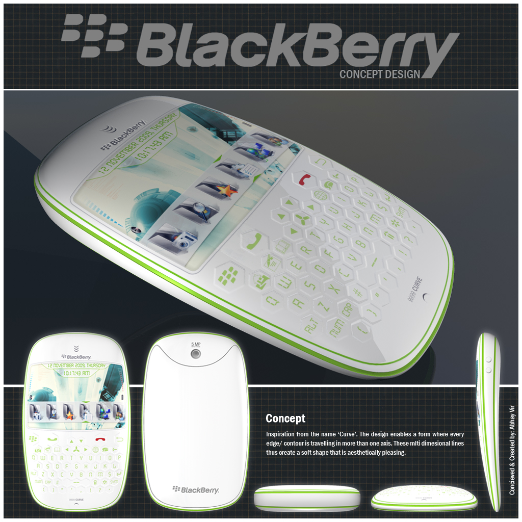 BlackBerry 9999 Curve Concept, Designed by Abhay Vir