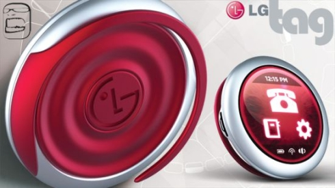 LG Tag Simplistic Mobile Phone Clips to Your Ear