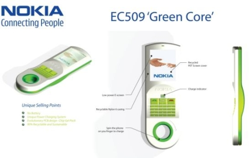 Nokia EC509 Green Core, an Eco Friendly Phone Designed by Matteo Trisolini