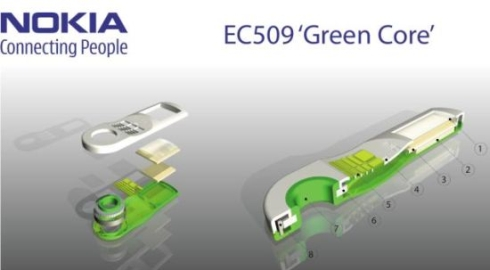 Nokia EC509 Green Core, an Eco Friendly Phone Designed by Matteo Trisolini