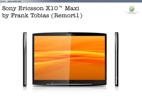 Sony Ericsson X10 Maxi, the Tablet Version of the XPERIA X10