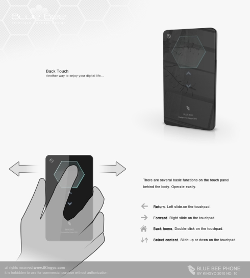 Blue Bee Phone Interface Concept is Simplistic and Intuitive
