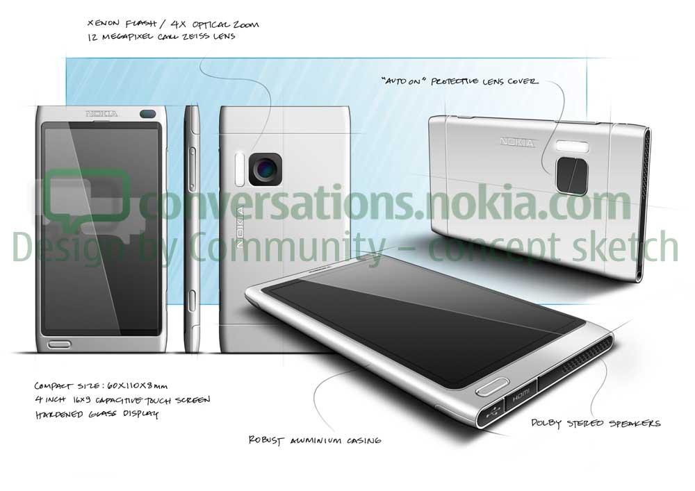 Nokia Shows Its Sharpest Phone Sketches: You Pick One!