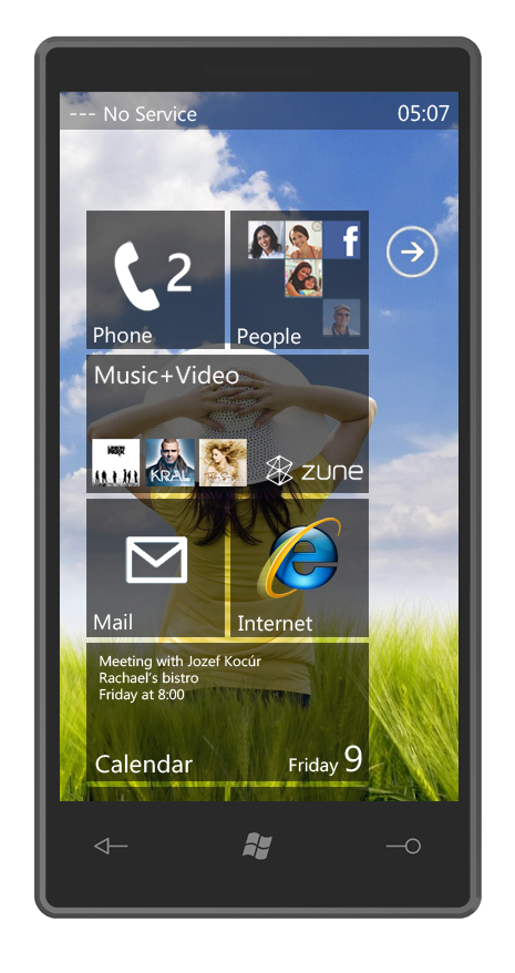 New Taste of Windows Phone 7 Interface, Courtesy of Jozef Kocúr