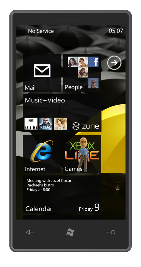 Windows Phone 7 Concept Interface is Something Sony Ericsson Would Dig