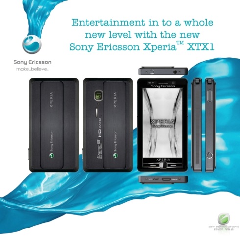 Sony Ericsson XPERIA XTX1 Design Packs an Exmor 12MP Camera