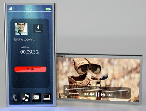 Intel Link Mobile Phone Concept, Created by Mark Law and David Law (Video)