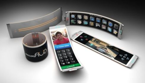 Philips Fluid Flexible Smartphone Concept, Created by Brazilian Designer Dinard da Mata