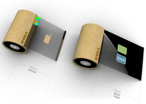 Rollphone, a Tiny Handset Relying on AA Batteries