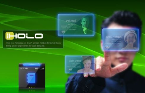 iHolo Futuristic Cellphone Relies on Holograms, Revolutionary UI