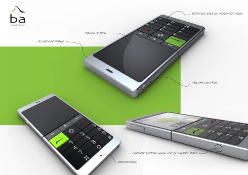 BA Smartphone Concept is a Rotating Phone With Physical Keyboard