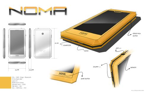 Noma Concept Phone, Created by Sylvain Klein